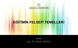 9. Felsefi Temeller