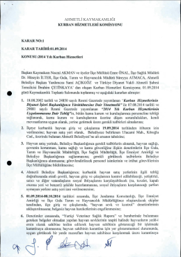 Ahmetli Kaymakamlığı Kurban Hizmetleri Komisyonu, 2014 yılı