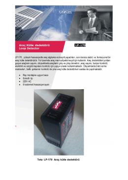 Araç Kütle dedektörü LP-170 RF Loop Detector LP