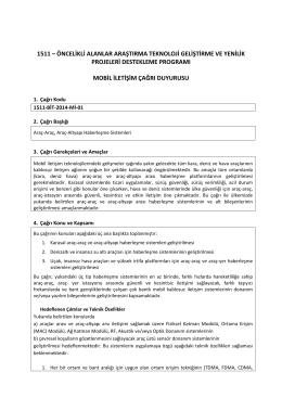 BİT- Mobil İletişim. 1511-BİT-2014-Mİ-01