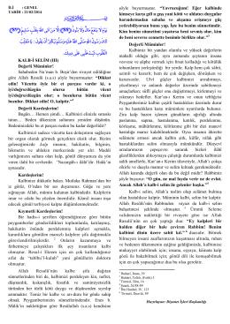 KALB-İ SELİM (III) Değerli Müminler! Sahabeden Nu