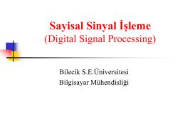 n - Bilecik Şeyh Edebali Üniversitesi Bilgisayar Mühendisliği