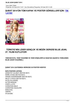 BLUE JEAN ŞUBAT 2014