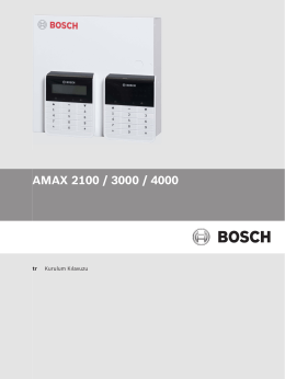 AMAX 2100/3000/4000 IG - Bosch Security Systems