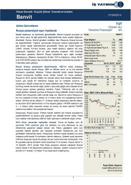 27/08/2014 - İş Yatırım