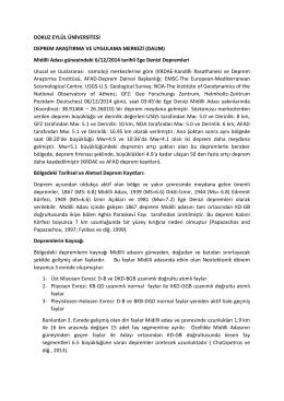 Midilli Depremi - Dokuz Eylül Üniversitesi