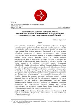 TÜRÜK Dil, Edebiyat ve Halkbilimi Araştırmaları Dergisi 2014 Yıl:2