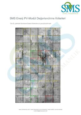 SMS Enerji PV-Modül Değerlendirme Kriterleri