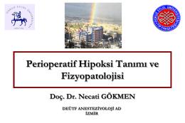 Perioperatif Hipoksi Tanımı ve Fizyopatolojisi