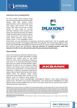 Emlak Konut Yatırım Ortaklığı (EKGYO) Ön satış ve