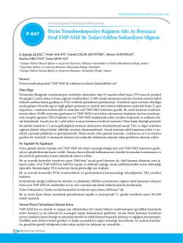 Derin Trombositopeniye Rağmen Altı Ay Boyunca Oral TMP