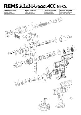 Teileverzeichnis Mini-Press ACC Ni-Cd