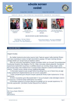 Gölcük Rotary Kulübü: golcukrotary.org