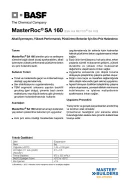 MasterRoc® SA 160 (Eski Adı MEYCO® SA 160) Alkali