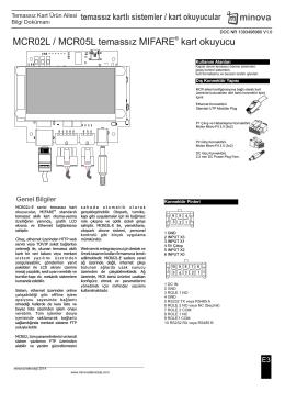 MCR OEM Ürün Datasheet