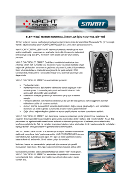 SMART Tanım - Yachtcontroller