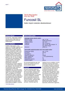 Funcosil SL teknik bilgi