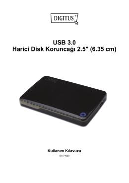 """USB 3.0 Harici Disk Koruncağı 2.5"""" (6.35 cm) Kullanım Kılavuzu"""
