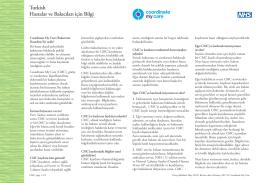 Hastalar ve Bakıcıları için Bilgi Turkish