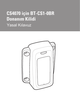 BT-CS1-0BR Dongle for CS4070 Regulatory Guide, P/N