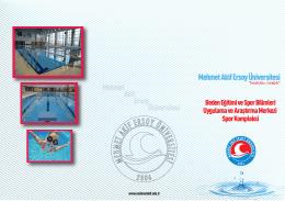Spor Kompleksi - Mehmet Akif Ersoy Üniversitesi