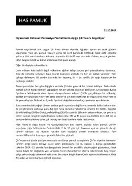 Piyasadaki Rehavet Potansiyel Voltalitenin Açığa Çıkmasını Engelliyor