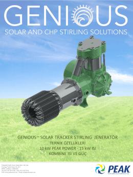 genıoustm solar tracker stırlıng jeneratör