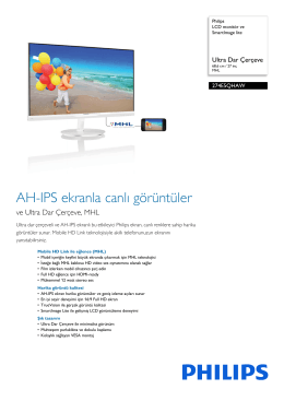 274E5QHAW/00 Philips LCD monitör ve SmartImage lite