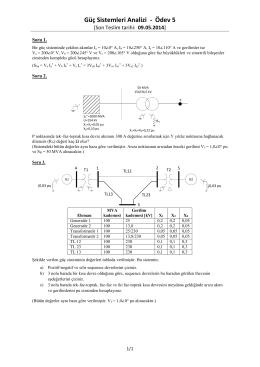 Güç Sistemleri Analizi - Ödev 5