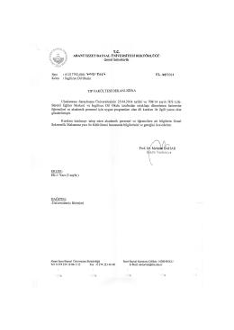 Uluslararası Saraybosna Üniversitesinin 25.04.2014 tarihli ve 708
