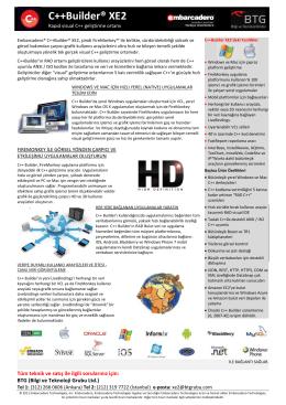 Ürün Broşürü - Bilgi ve Teknoloji Grubu