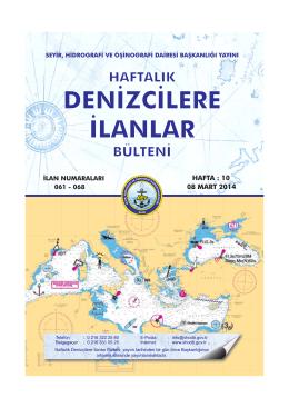Denizcilere İlanlar - Seyir Hidrografi ve Oşinografi Dairesi Başkanlığı