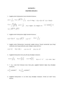 c.) 1 log y x = + d.) (2 1) y x = + 3 2 f .) 9 x y x x + = -