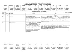 15 ocak 2014 tarihinde yapılan yönetim kurulu
