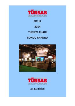 fıtur 2014 turizm fuarı sonuç raporu