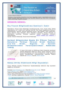 GÜNDEM/GÜNCEL AFRİKA - Aksaray Ticaret ve Sanayi Odası