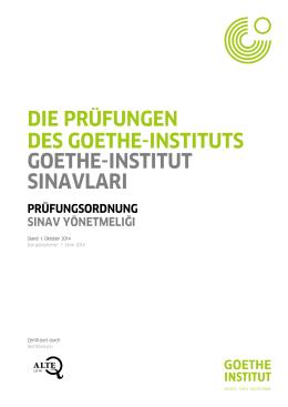 Sınav Yönetmeliği - Goethe