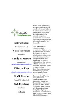Kasım 2014 | Focus Maintenance