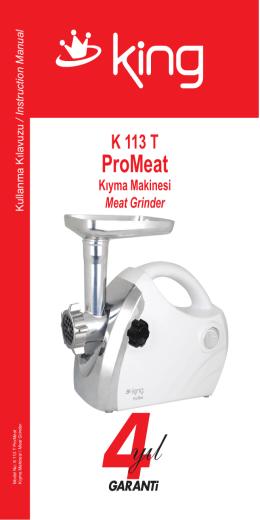 K 113 T ProMeat Kullanma con