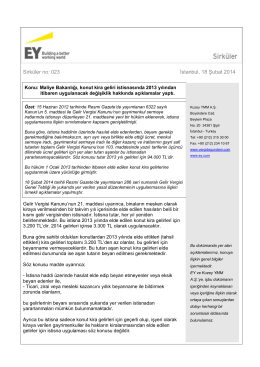 Maliye Bakanlığı, konut kira geliri istisnasında