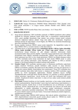 sözleşme - Türkiye 24. Uluslararası Madencilik Kongresi ve Sergisi