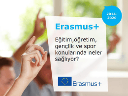 Erasmus Plus Nedir?