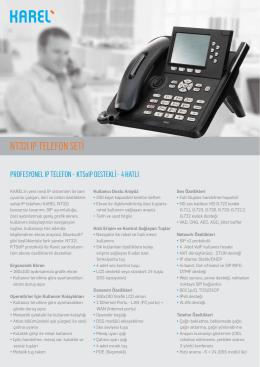 Karel NT32I IP Telefon Broşürü
