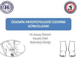 Ödemin patofizyolojisi üzerine güncelleme
