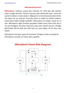 1. Mikroişlemci-Mikrodenetleyici