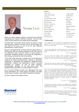 Nesim Levi - Blanchard International