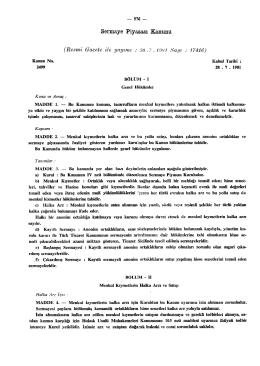Sermaye Piyasası Kanunu - Türkiye Büyük Millet Meclisi
