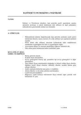 PETROKİMYA (RAFİNERİ) TEKNİKERİ