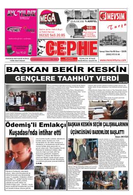 31.01.2014 Tarihli Cephe Gazetesi