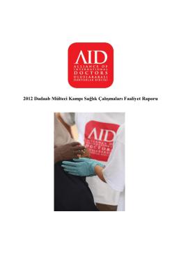 2012 yılı faaliyet raporu